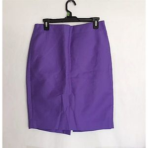 J. Crew Pencil Purple Skirt Size 8 New with tags